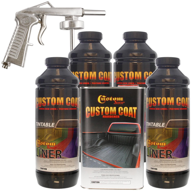 Bed Liner CUSTOM COAT TINTABLE 4-L Urethane Spray-On Truck Kit w ...