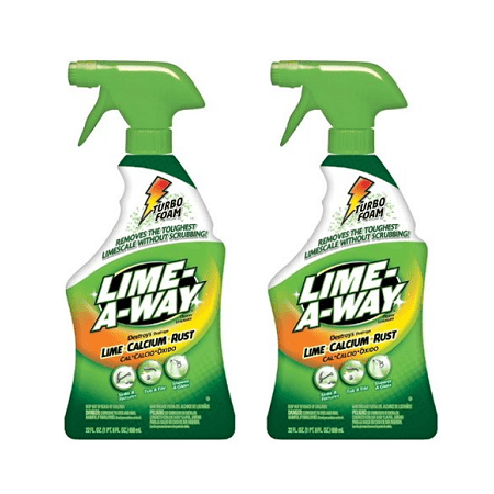 (2 pack) Lime-A-Way Bathroom Cleaner, 32oz Bottle, Removes Lime Calcium