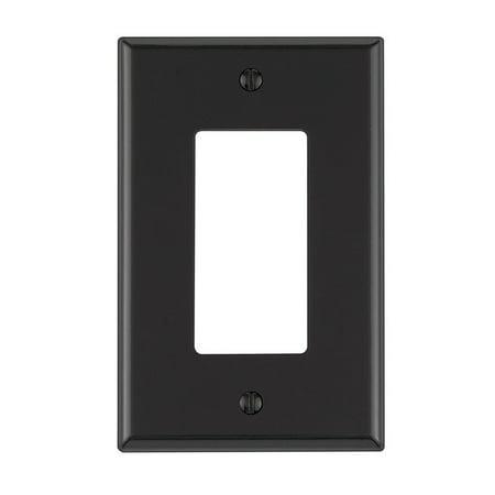 Leviton Rocker-Gfci Wall Plate Thermoplastic Nylon 1 Gang Midway Black Bulk