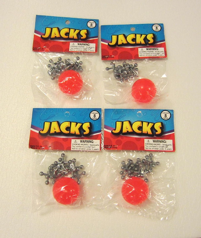 Metal Jacks and Rubber Ball Set