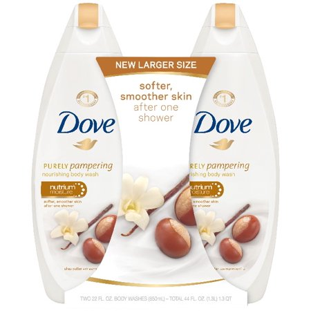 Liquid Body Cleanser Coriander (Dove Purely Pampering Shea Butter with Warm Vanilla Body Wash, 22 oz, Twin Pack )