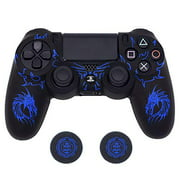 PS4 Controller Skin, BRHE DualShock 4 Grip Anti-Slip Silicone Cover Protector Case for Sony Playstation 4/PS4 Slim/PS4 Pro Wi - ACTUAL CONTROL IS NOT INCLUDED -