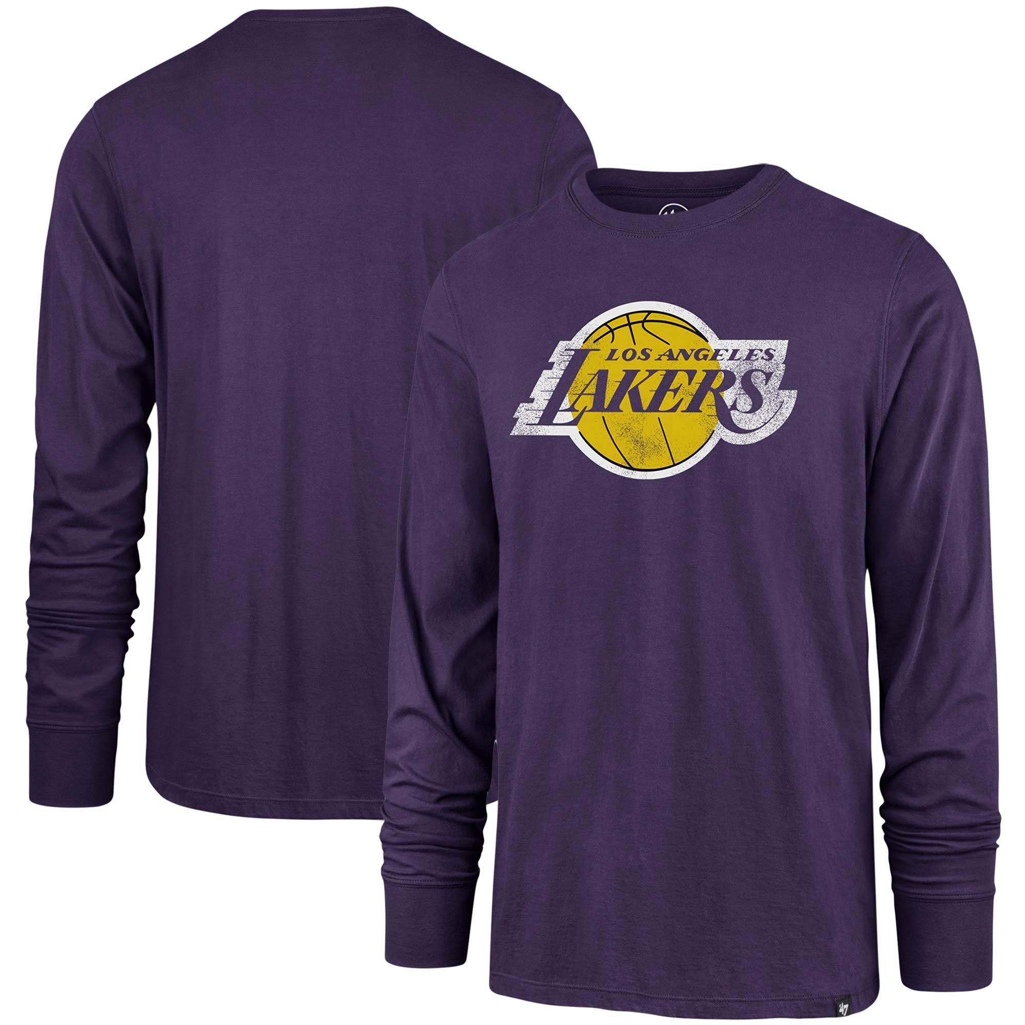 Los Angeles Lakers '47 Super Rival Long Sleeve T-Shirt - Purple ...