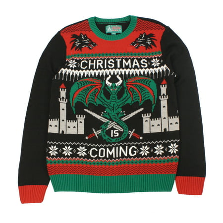 Ugly Christmas Sweaters Unisex Xmas Is Coming Game Of Thrones Light Up Sweater (Ugly Christmas Sweater Girls)
