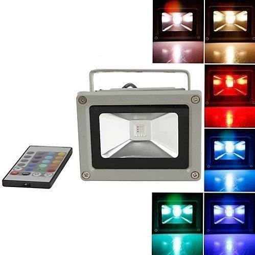 Lightahead® Remote Control 10W RGB Waterproof LED Flood Light Landscape Spotlight Wall Washer Light 16 Different Color Tones