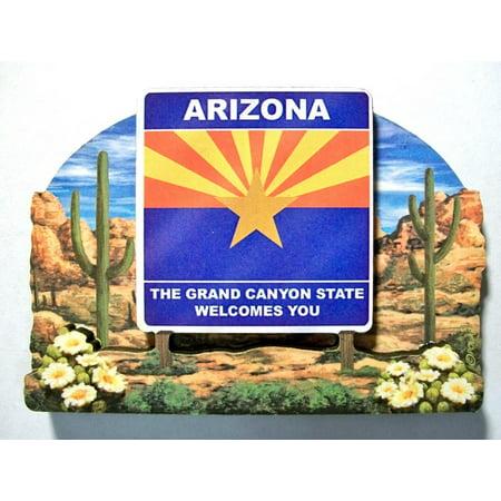Arizona Led Sign - Arizona State Welcome Sign Artwood Fridge Magnet