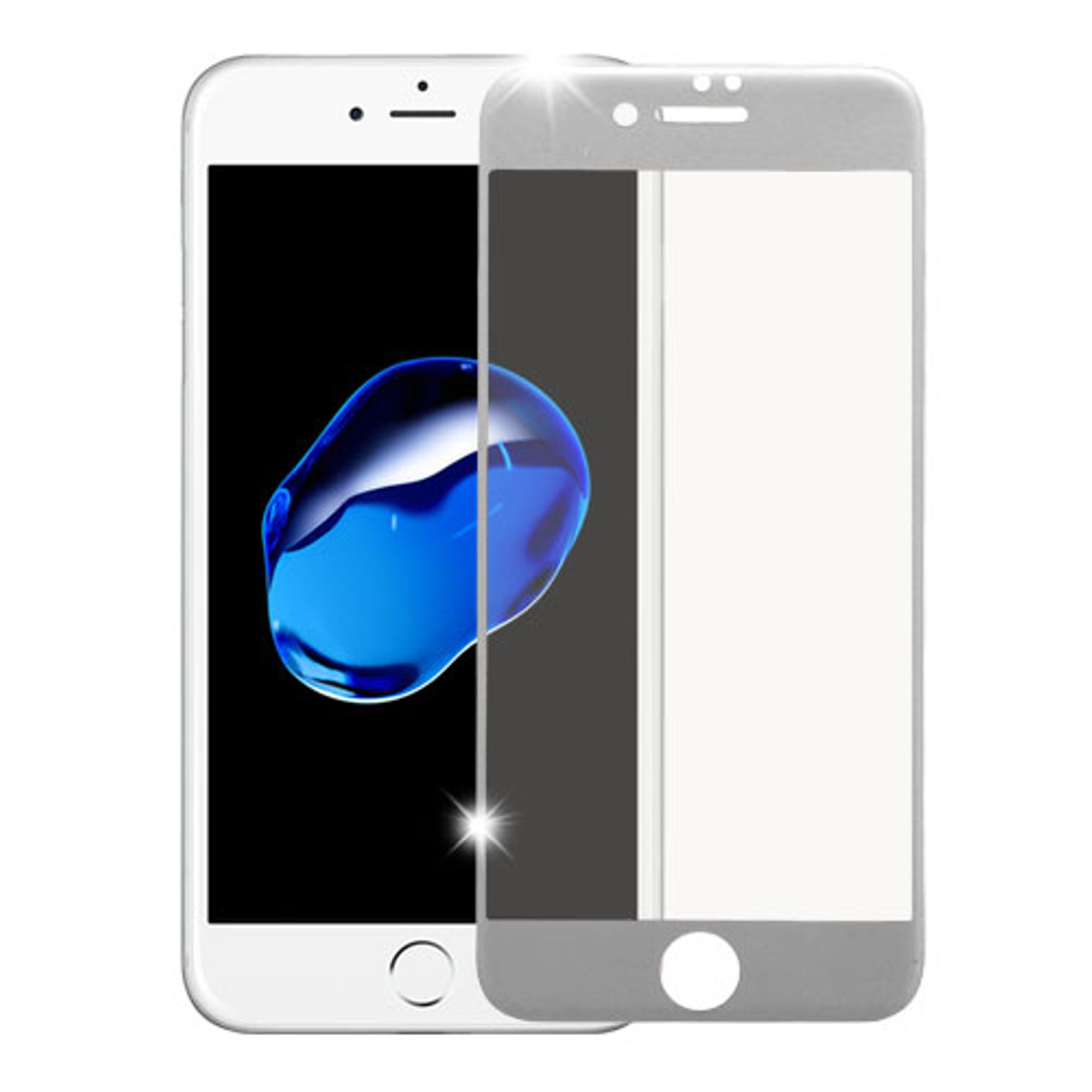 iPhone 8 glass protector, iPhone 7 glass protector, by Insten Clear Tempered Glass LCD Screen Protector Film (Full Coverage) For Apple iPhone 8 / iPhone 7 (4.7 inch) - Silver