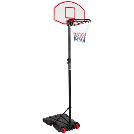 Best Choice Products Portable Kids Junior Height-Adjustable Basketball Hoop Stand Backboard System W/ Wheels ()