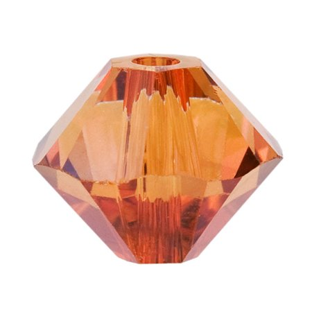Swarovski Crystal, #5328 Bicone Beads 2.5mm, 20 Pieces, Crystal Copper