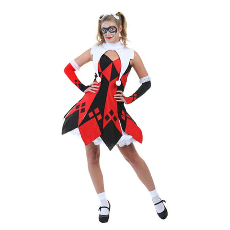 Cute Court Jester Costume for Plus Size Women