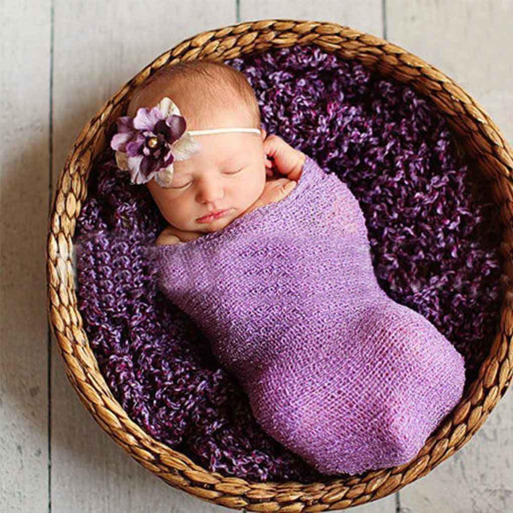 Newborn Photography Props Baby Blanket Wraps Stretch Knit Wrap Photo Wraps Cloth