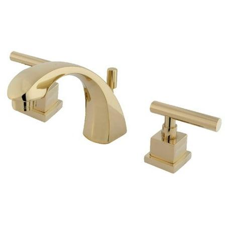 Kingston Brass Claremont Widespread Bathroom Faucet with Brass Pop-Up (Kingston Brass Pop)