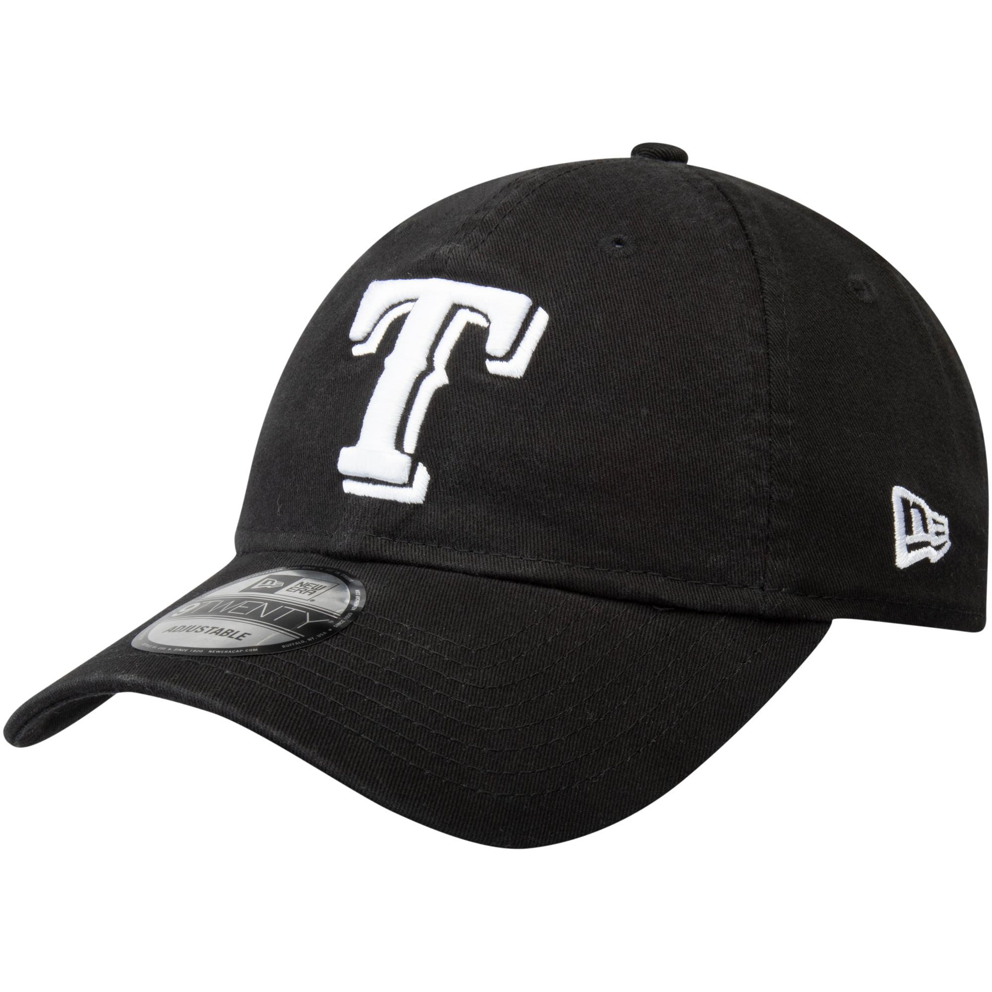 Texas Rangers New Era Core Classic Twill 9TWENTY Adjustable Hat - Black - OSFA