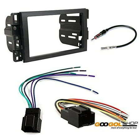 - gmc 2007 - 2014 yukon (2012-2014 w/o factory nav) car stereo dash install mounting kit wire harness radio antenna