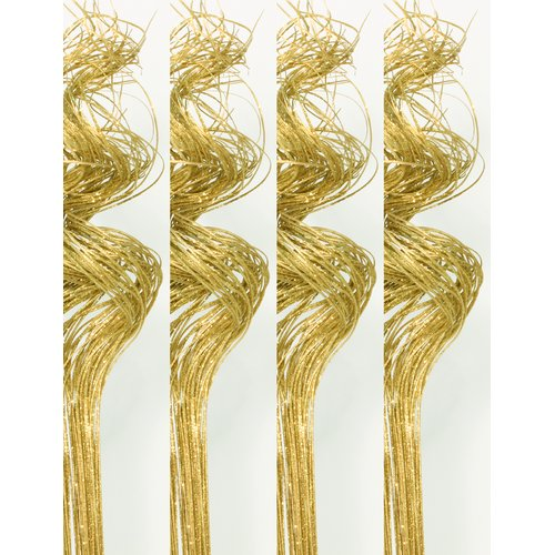 The Holiday Aisle Glitter Sparkle Curly Ting Party Table Floral Arrangement (Set of 4)