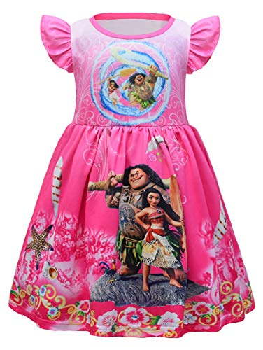 AOVCLKID Little Girls Princess Pajamas Toddler Nightgown Dress Halloween Costumes