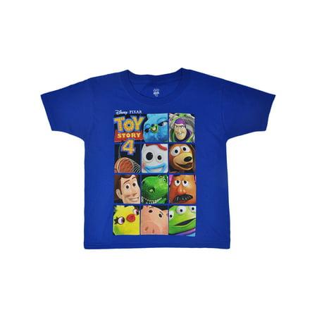 Boys Toddler Toy Story 4 Woody Buzz Forky Rex Hamm T-Shirt Blue - Woody Shirt