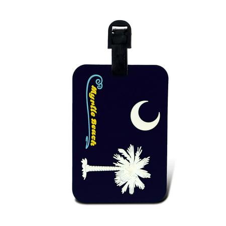 Luggage Tags South Carolina Flag   Myrtle Beach