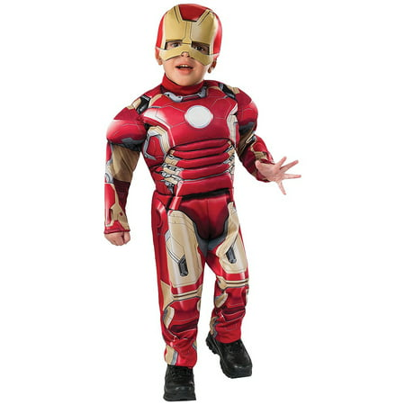 Iron Man Toddler Costume - Toddler Small (Toddler Iron Man Costume)