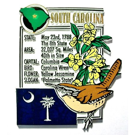 South Carolina The Palmetto State Montage Fridge Magnet