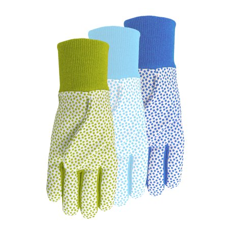Midwest Quality Gloves, Inc. Combo Jersey/Canvas Dot - Dotted Palm Gloves