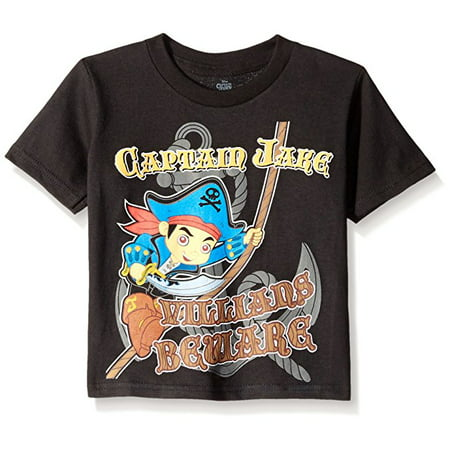 Disney Little Boys' Toddler Jake and The Neverland Pirates In The Making Short Sleeve T-Shirt, Black, 2T (Jake In The Neverland Pirates)