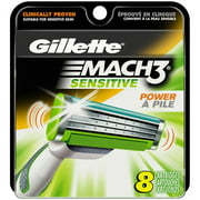 P & G Gillette Mach3 Sensitive Cartridges, 8 ea
