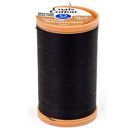(Coats & Clark Machine Quilting Cotton Thread 350 yd. Black, 100% Mercerized Cotton By Coats Clark Inc)