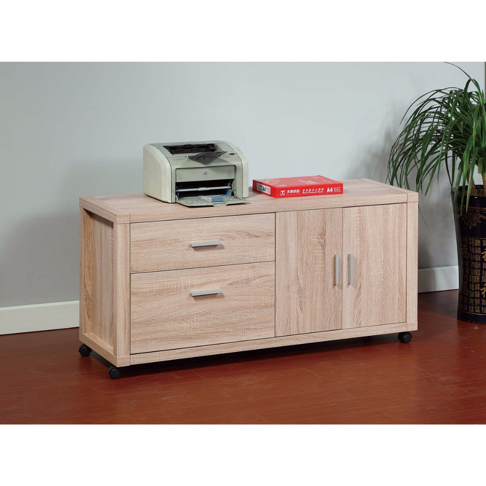 Coherence Utility File Credenza, Brown by Benzara