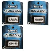 Wilkinson Sword Double Edge Razor Blades, 10 ct. (Pack of 3) + Eyebrow Ruler