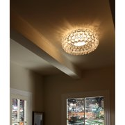 "Modway Halo 20"" Acrylic Crystal Ceiling Light Fixture in Clear"