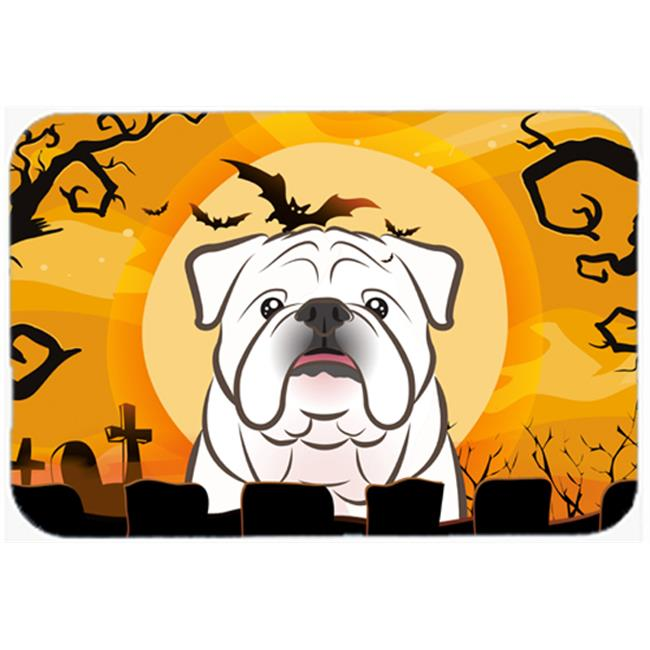Carolines Treasures BB1778CMT Halloween White English Bulldog Kitchen & Bath Mat, 20 x 30 - image 1 de 1