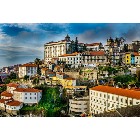 Canvas Print Porto City Portugal Houses Roofs Building