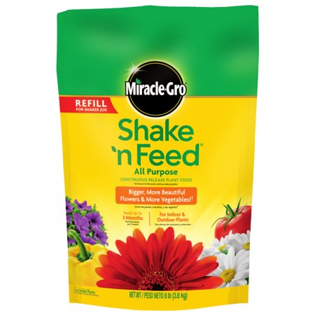 Feed All Purpose Plant Food - Scotts Miracle Gro 110570 Shake 'N Feed All-Purpose Plant Food, 8-Lb. Refill Bag