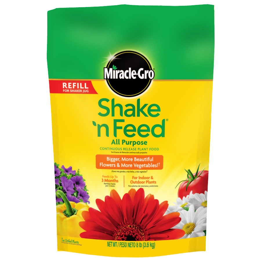 Scotts Miracle Gro 110570 Shake 'N Feed All-Purpose Plant Food, 8-Lb. Refill Bag