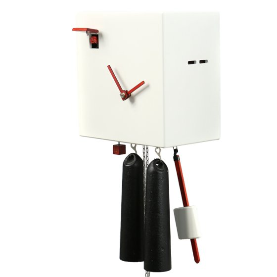 Modern VDS Certified 8 Day White Romba Art Cuckoo Clock by Rombach and Haas  (Extra 20% Off Sale Price - Code