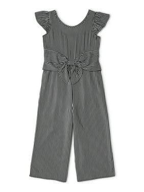 Wonder Nation Girls 4-18 & Plus Ruffle Sleeve Tie Front Jumpsuit