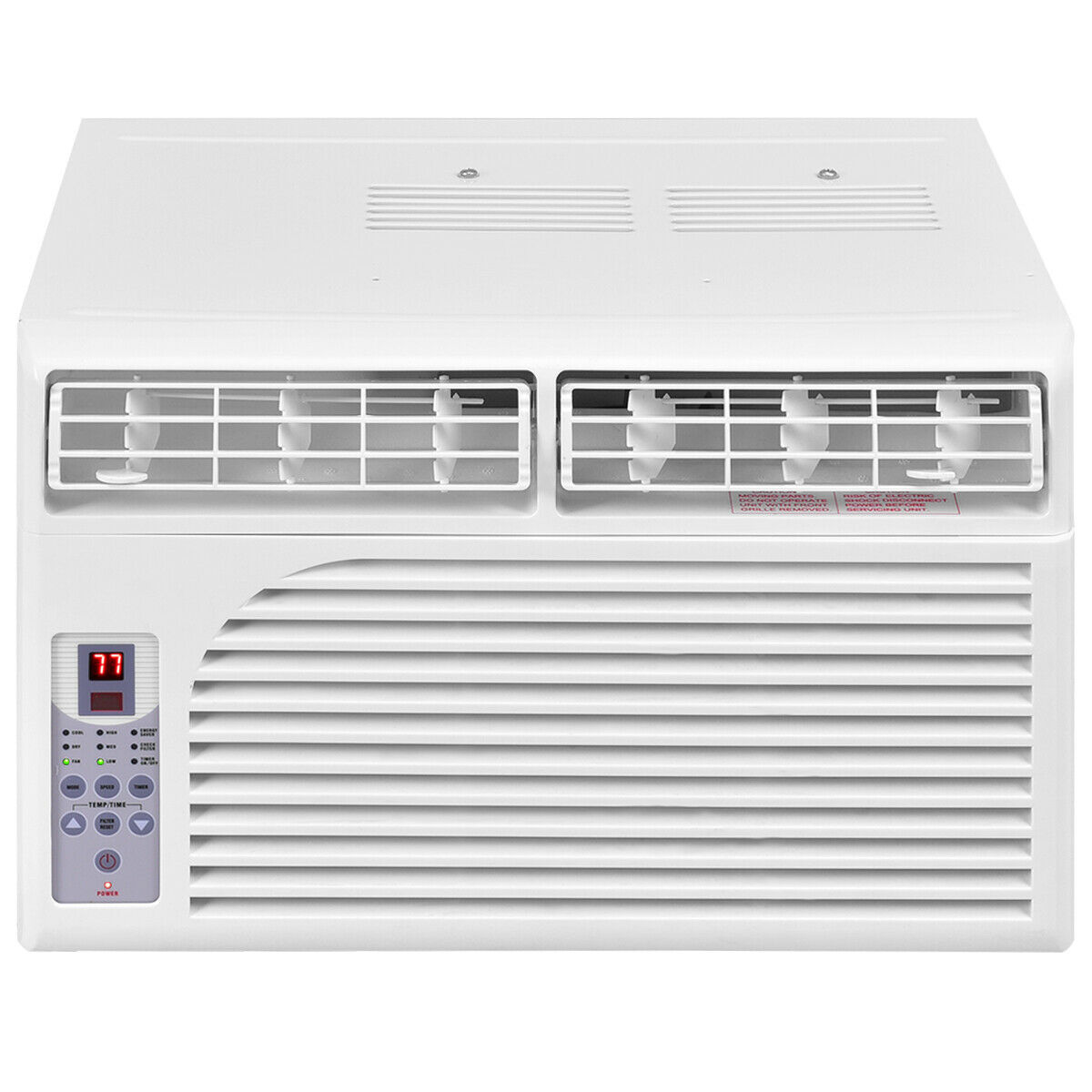 Costway 10000 BTU White Compact 115V Window-Mounted Air Conditioner w/ Remote Control