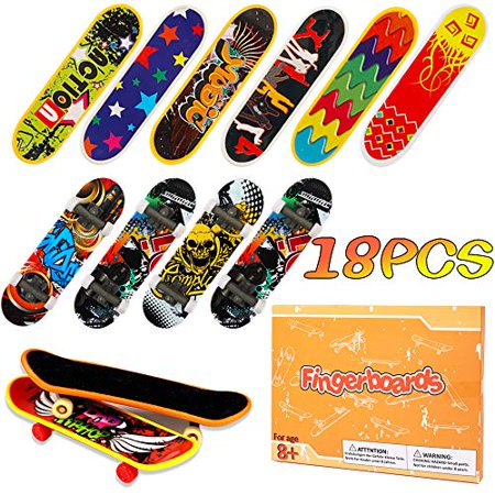HEHALI 18pcs Finger Skateboards Professional Mini Fingerboards Toy Party Favors for Kids Christmas Birthday Gifts (12 Normal + 6 Matte) - image 1 of 4