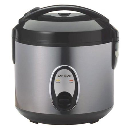MegaMixer 6 Cup Rice Cooker With Stainless Steel Body