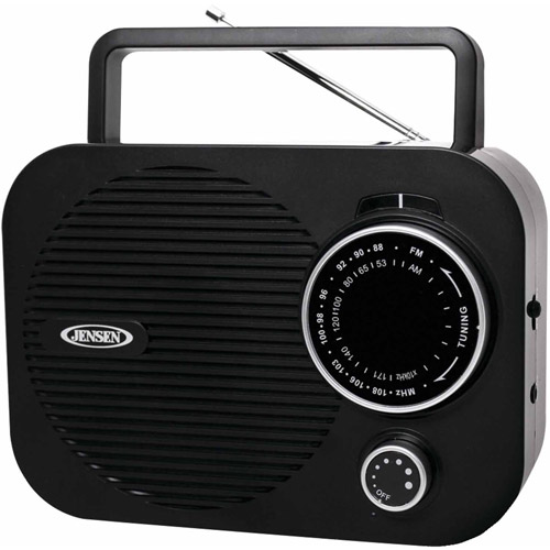Jensen Mr-550-bk Portable AM/FM Radio, Black