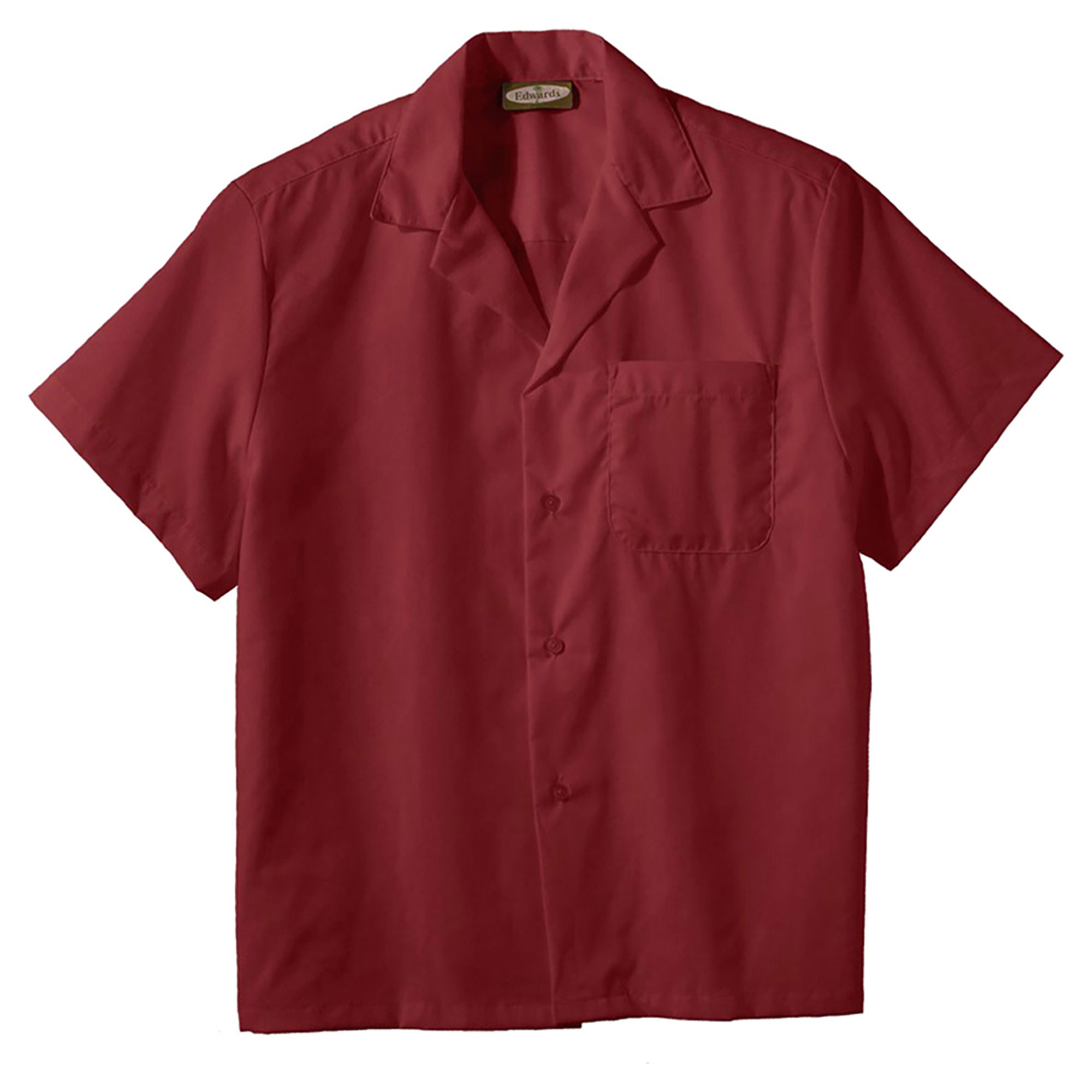 Edwards Easy Care Matching Button Poplin Camp Shirt, Style 1029