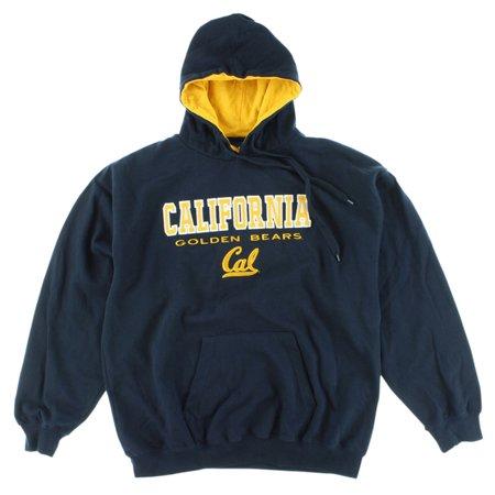 Old Varsity Mens Cal Golden Bears Ncaa Hooded Sweatshirt Navy Blue