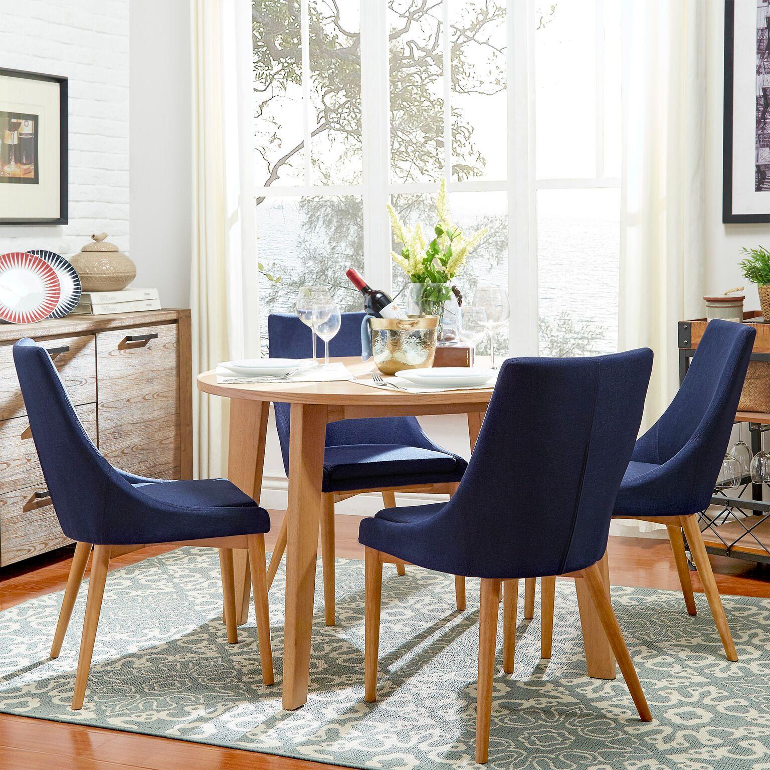 Chelsea Lane Baxter 5-Piece Dining Set, Light Oak