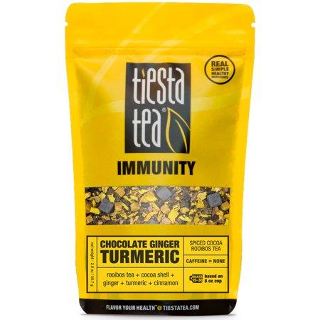 2 Ounce Free Herb - Tiesta Tea Immunity, Chocolate Ginger Turmeric, Loose Leaf Herbal Tea Blend, Caffeine Free, 2 Ounce Pouch