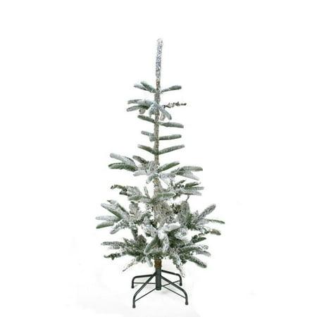 - 4.5' Flocked Noble Fir Artificial Christmas Tree - Unlit - Walmart.com