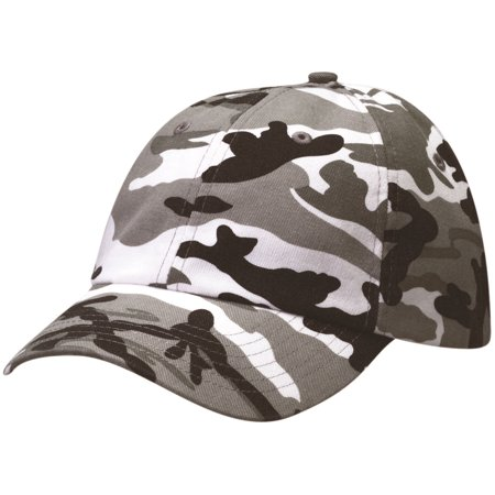 NEW Alternative Apparel Black/White Camouflage Adjustable Hat/Cap Camouflage Slouch Hat