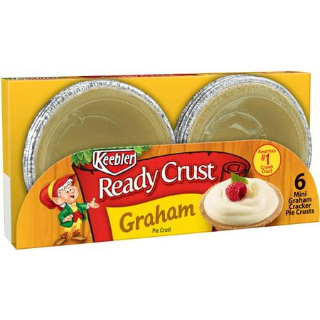 (3 Pack) Keebler Ready Crust Mini Pie Crust Graham - 6 CT (Graham Cracker Pie)