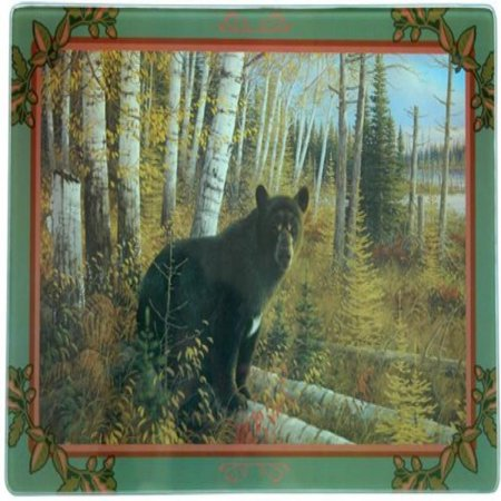 R Enterprises/Motorhead Products, WW-0151, 7-3/4-Inch by 11-3/4-Inch Tempered Glass Cutting Board Featuring Bear By Artist Michael Sieve