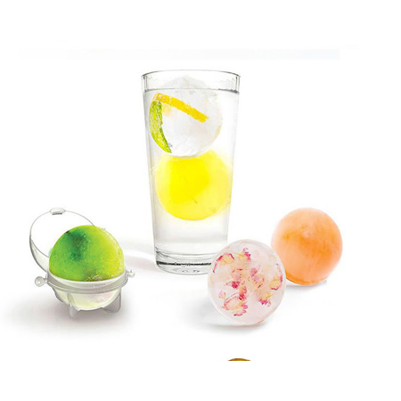 Round Ice Cube Ball Maker Sphere Molds For Whisky Party Cocktails Set of 4 Gift